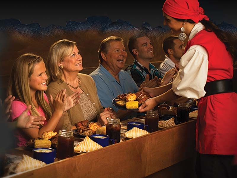 Taste A Delicious Mouthwatering Four Course Family Feast Served By The Crew At Pirates Voyage Dinner Show