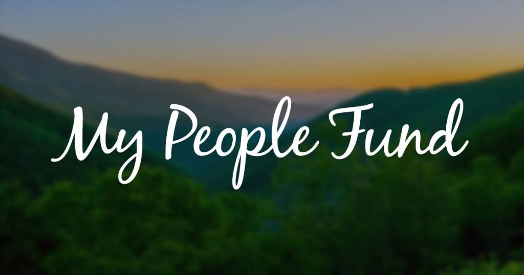 "Donate to the ""My People Fund"""