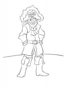Free Coloring Sheet from Pirates Voyage - Happy Father's Day