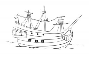 Free Pirates Voyage Coloring Sheet - Pirate Ship
