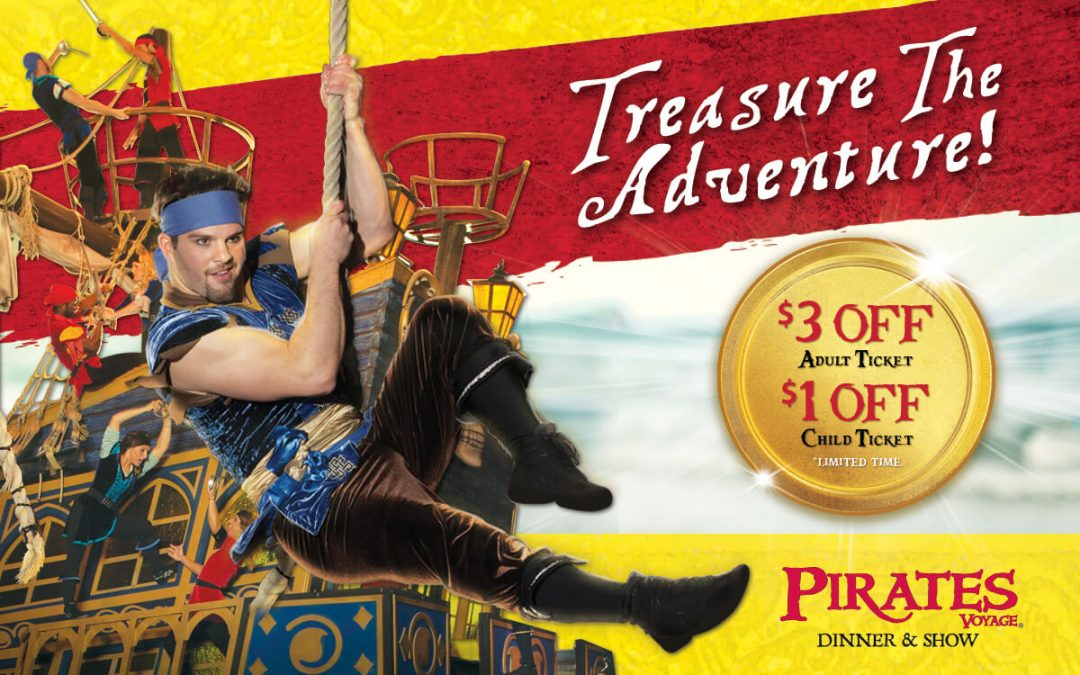 Treasure the Adventure at Pirates Voyage in Myrtle Beach!