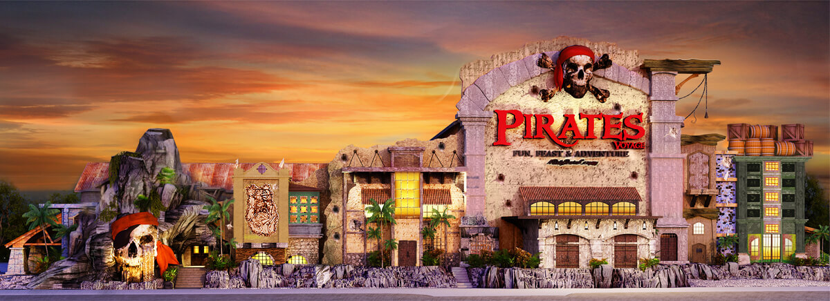 Pirates Voyage Construction in Pigeon Forge TN