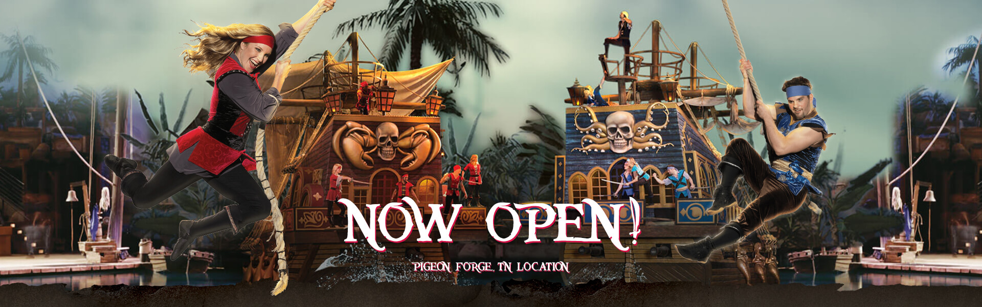 Pirates Voyage Dinner & Show Pigeon Forge, TN Now open